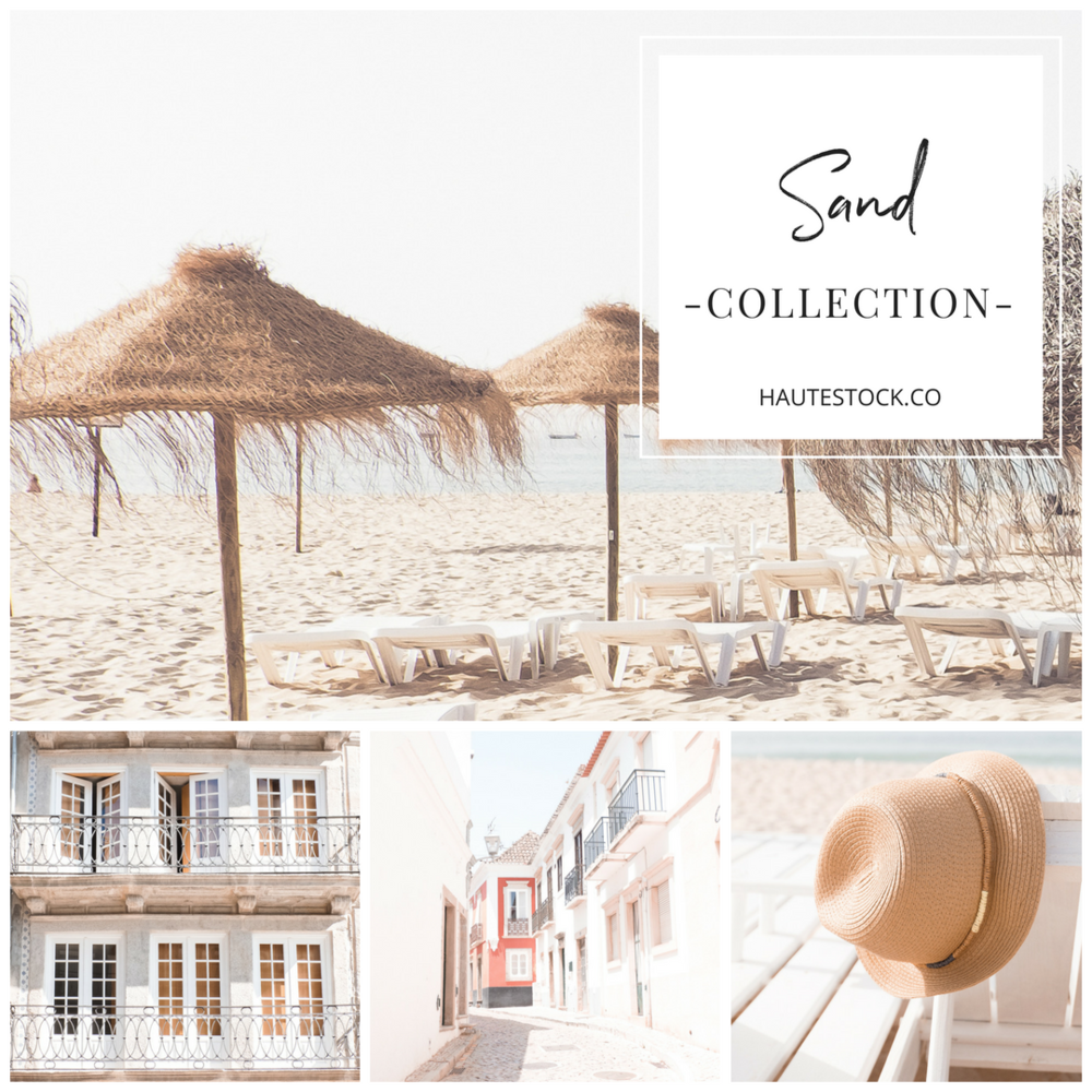 The Haute Stock Sand Collection is a beautiful collection of modern, minimal, neutral images inspired by travel.