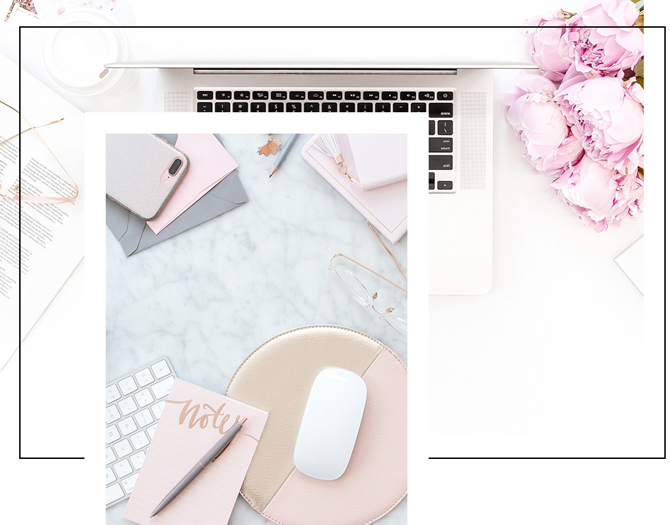 Desktop Images  - There are hundreds of flatlay images perfect for boss ladies. They feature tech and pretty props in a variety of layouts, with lots of negative space for text.