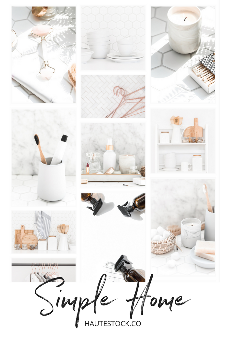 Simple, modern, clean. home organizing styled stock photos for women entrepreneurs from Haute Stock