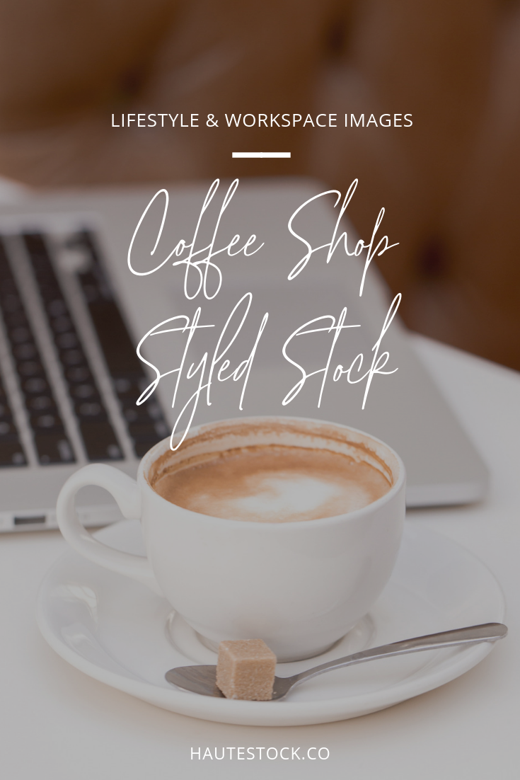 Simple, relaxed, and fun coffee shop inspired styled stock photos by Haute Stock.