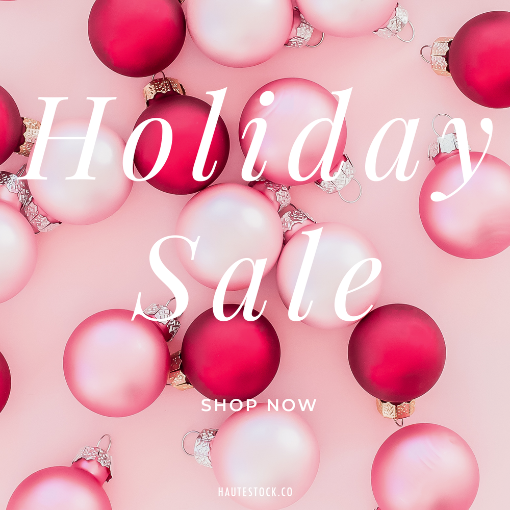 Got a holiday sale coming up? Need gorgeous graphics to advertise the sale? Pink & Red Holiday Collection from Haute Stock looks gorgeous with simple overlayed text. Click to view more examples!