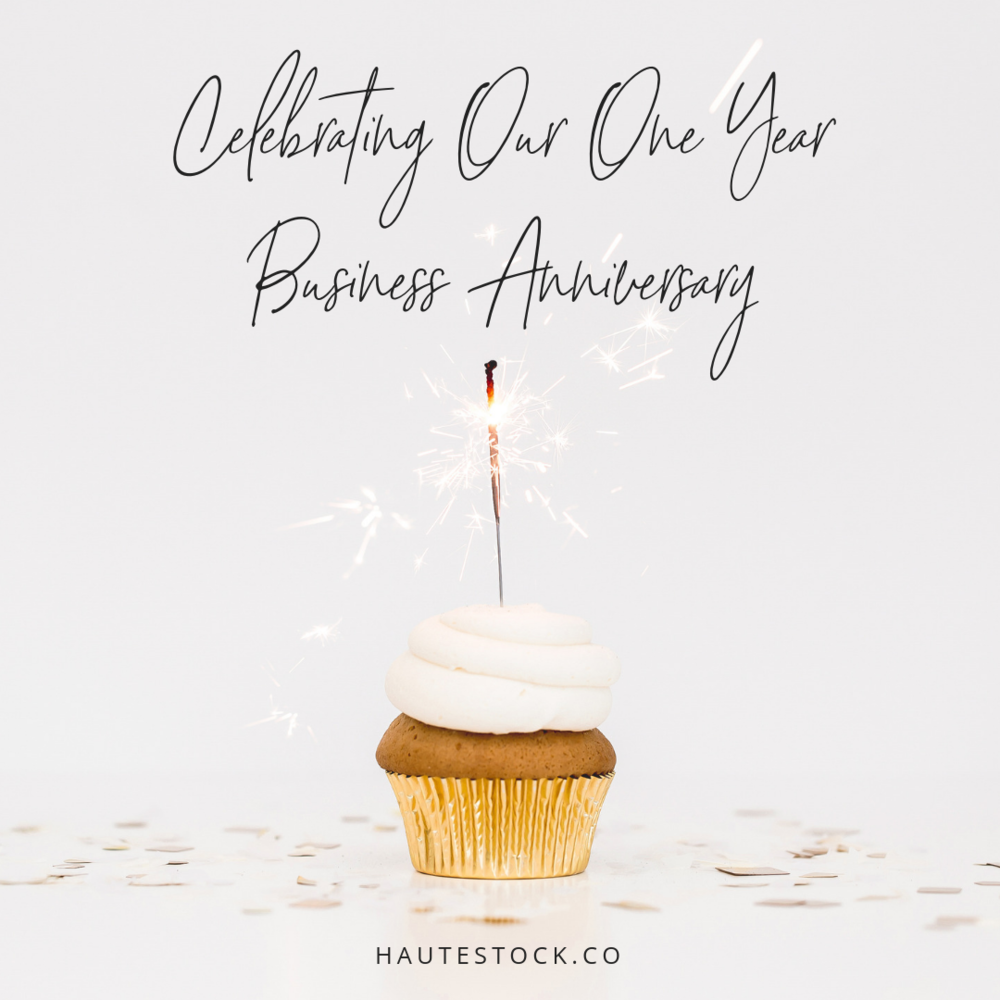 Use celebration styled stock images to announce your birthday or business anniversary! It's a fun way to share important milestones with your followers! Example from the Celebrate Collection by Haute Stock. Click the post for more ideas on how to use celebration styled stock for your business!