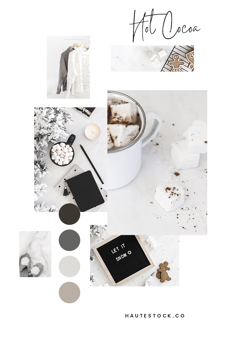 Cuddle up with Haute Stock's Hot Cocoa Collection! Share the cozy feels on your social media feeds or get your website ready for winter with these images of hot chocolate, chunky sweaters, gingerbread cookies, and comfy workspaces!