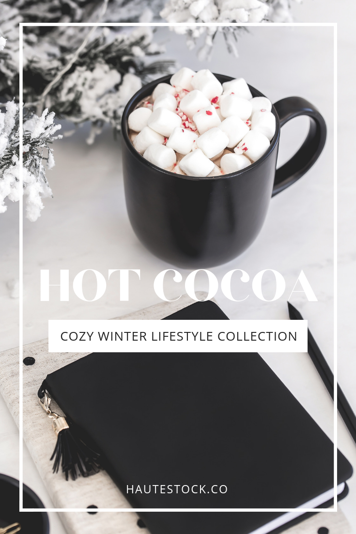 Hot Cocoa is Haute Stock's latest cozy collection. Featuring lifestyle shots, workspace flatlays, product mockups with Printed Mint mugs, and fun letterboard quotes, this collection channels all things cozy in 25 gorgeous stock photos.