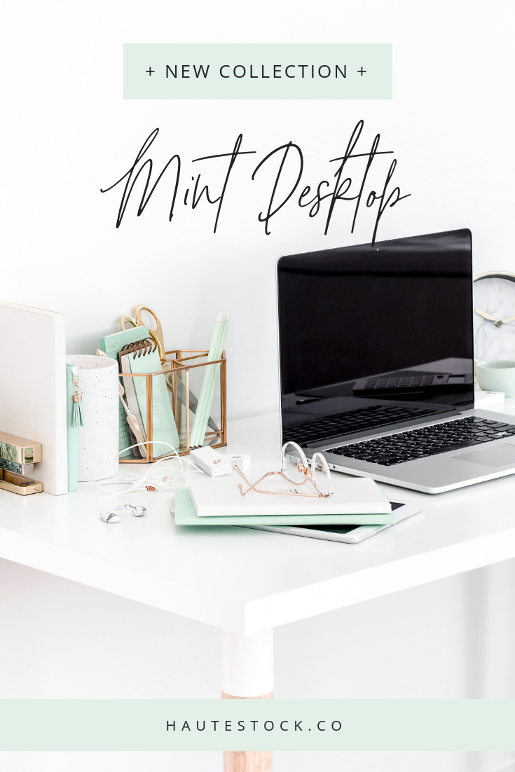 Bright, light, and airy, these new Mint Desktop images are perfect for bloggers, financial advisors, or those who teach about abundance. Haute Stock's latest collection features soft mints, clean whites, and shiny golds and a mixture of desktop and flatlay images.