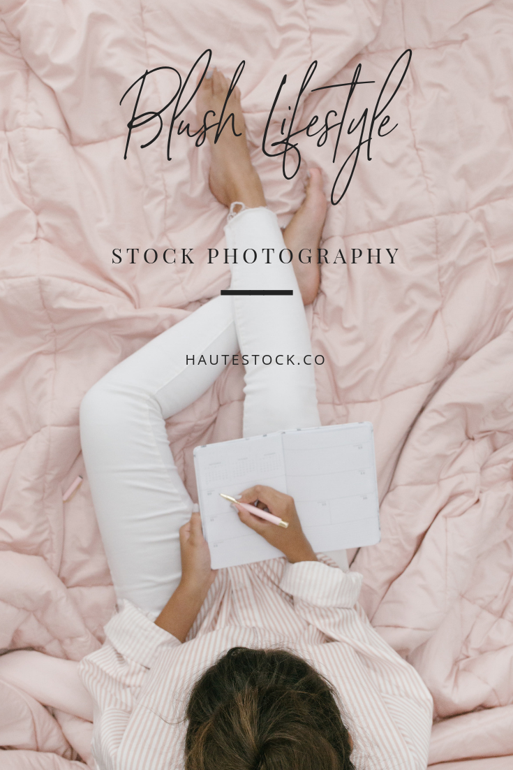 Blush pink coffee and laptop lifestyle stock photos. This collection from Haute Stock is perfect from lifestyle bloggers, female entrepreneurs, and anyone with blush pink in their brand! Click to preview the entire collection!