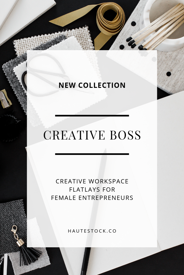 Make a statement with Haute Stock's new workspace flatlays in the Creative Boss collection. From inspiration boards, textiles, and ribbon to invoices, financial planning, and to-dos, this collection is all about the hard work that goes into running a business.