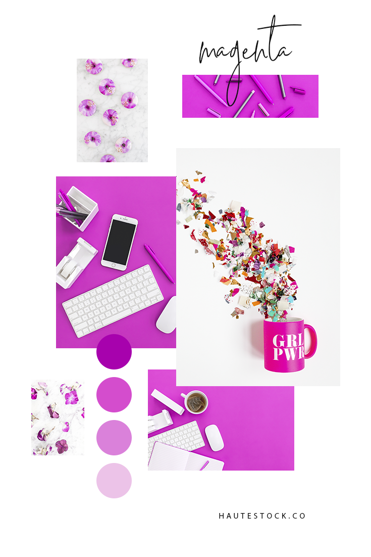 Bright, fun and bold magenta colored styled stock photography for artists, makers, business owners and all female entrepreneurs! Click to see a full preview of this vibrant collection!