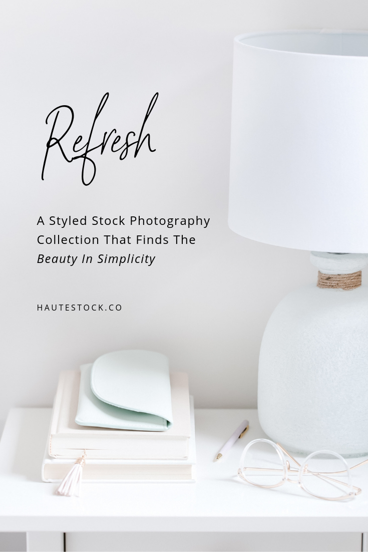 Mint and taupe styled stock photos from Haute Stock that have a simple, fresh, organic feel.