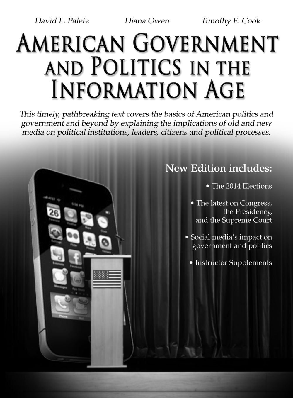 A book advertisement for the back cover of the conference booklet at the 2015 American Political Science Association (APSA) Teaching and Learning conference in Washington, DC.