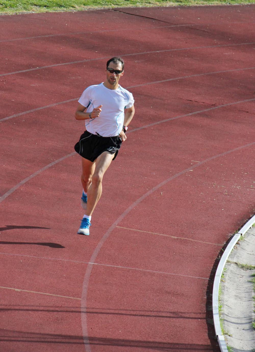 An Urbino runner training before an upcoming race.