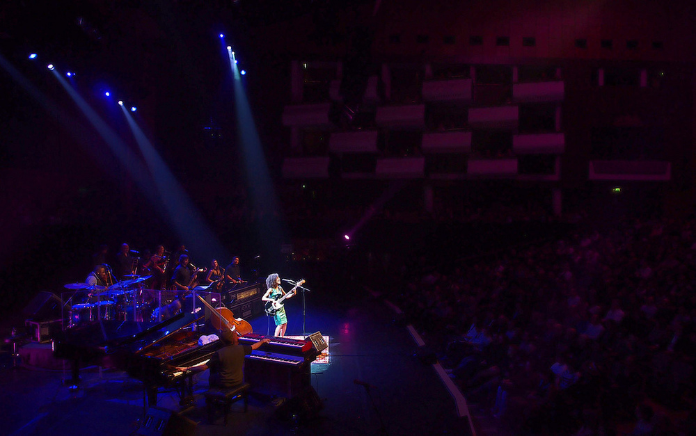London Jazz Festival from the Royal Festival Hall courtesy of Heiko S on Flickr