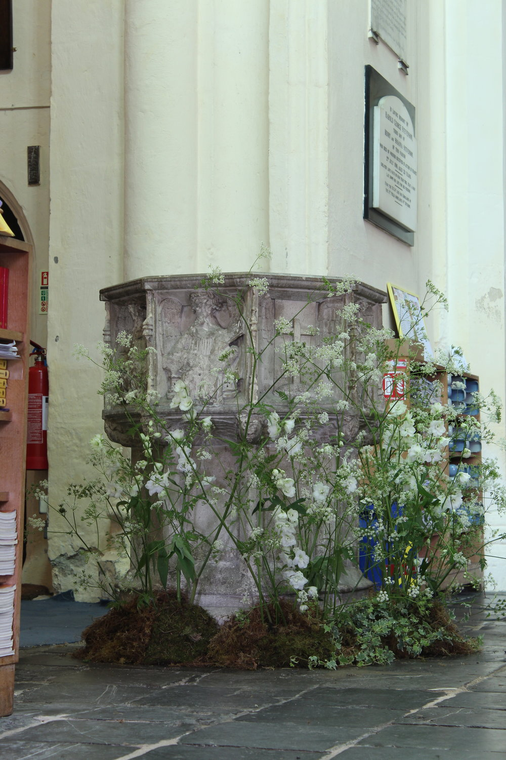 Church Font Flowers.JPG