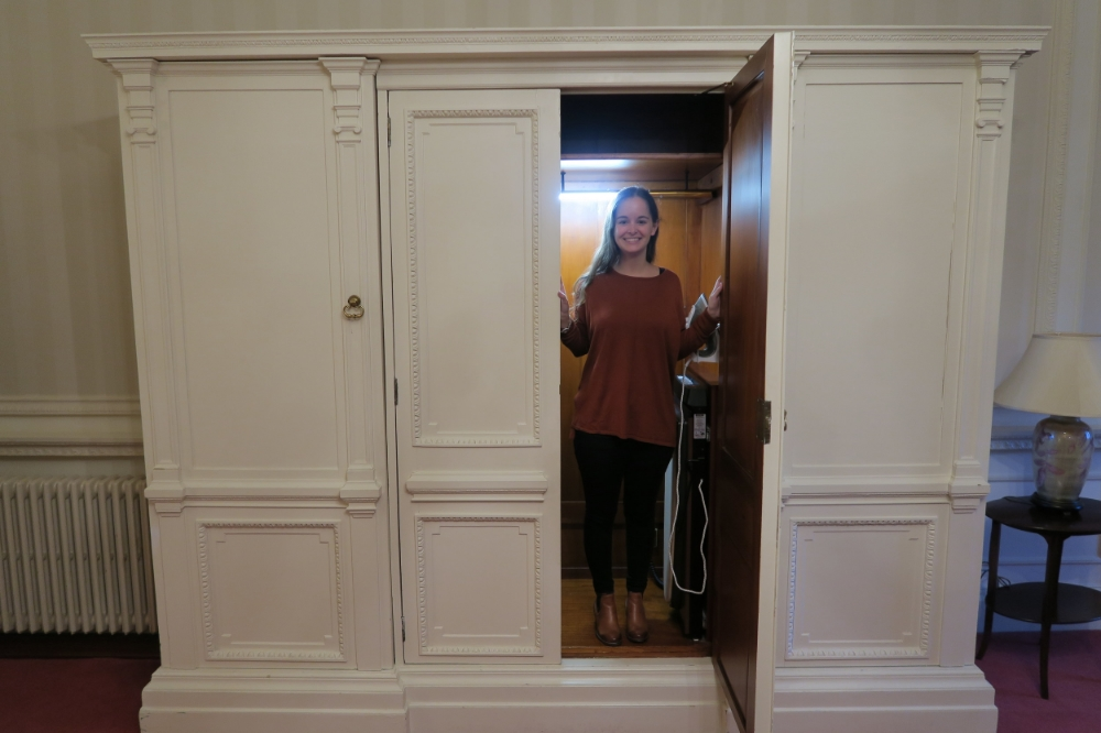 The wardrobe where Hugh Grant hid in Four Weddings and a Funeral