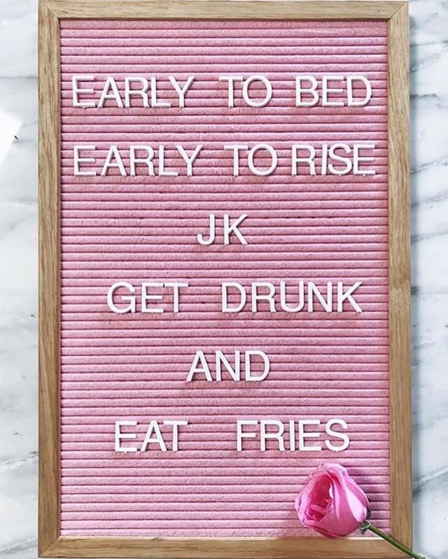 I relate to this so much.. 😂 Though I do love a healthy dose of going to bed early and sleeping (as well as fries and drinks obvs).. 😴 #weekend #AlwaysFries #fries #healthybalance #drink #happylife #love  Repost @revolve