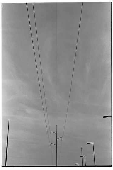 Earliest image of overhead wires in my archives. Aprils, 2007. Champaign-Urbana, Illinois.