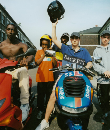 Teenagers on Scooters, East London 2000. ©Phil Knott / PYMCA