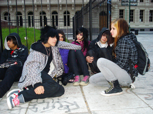Emo became a huge style tribe in the Noughties, despite no-one actually admitting to being one. Teenagers, Buenos Aires, Argentina 2009. ©Belen Asad Serret/PYMCA.
