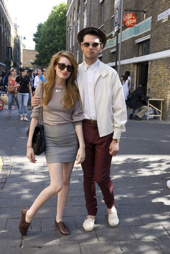The smart 'Preppy Look', Brick Lane 2009. ©James Lange/PYMCA
