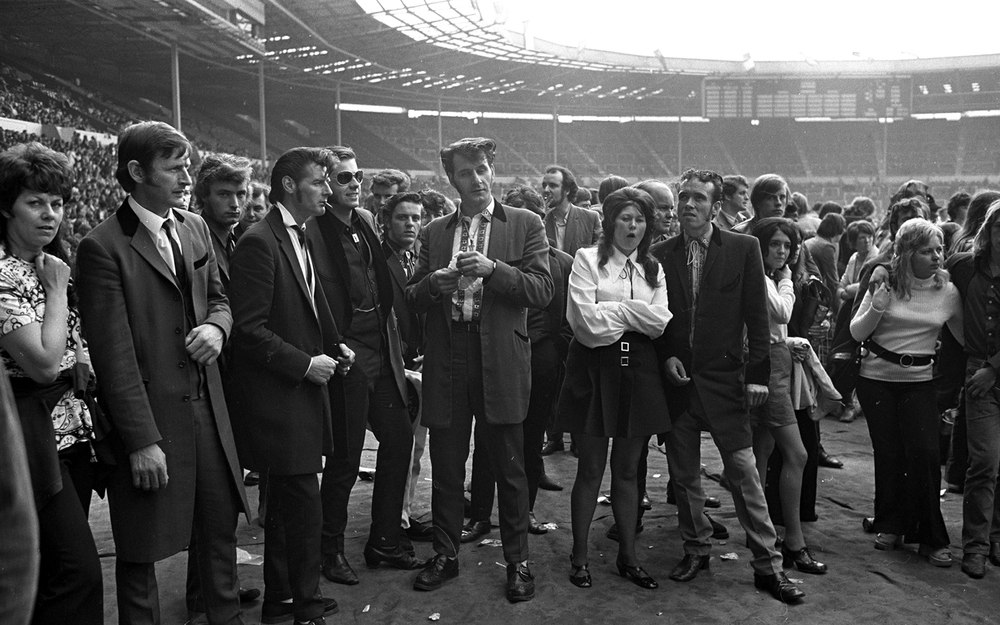 Teddy Boys at a Pop concert, Wembley, 1972. © Brian Moody / Rex ...