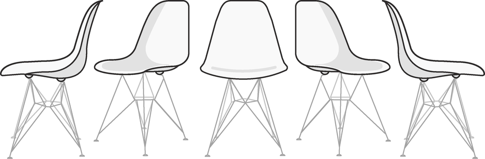 Eames Molded Plastic Chair, just for fun.