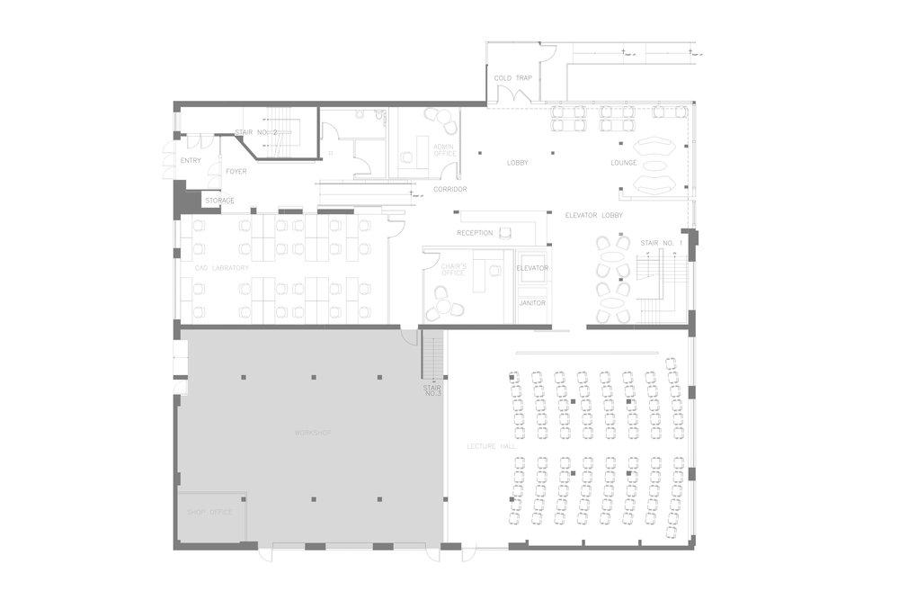 Ryerson's School of Interior Design   First Floor Plan