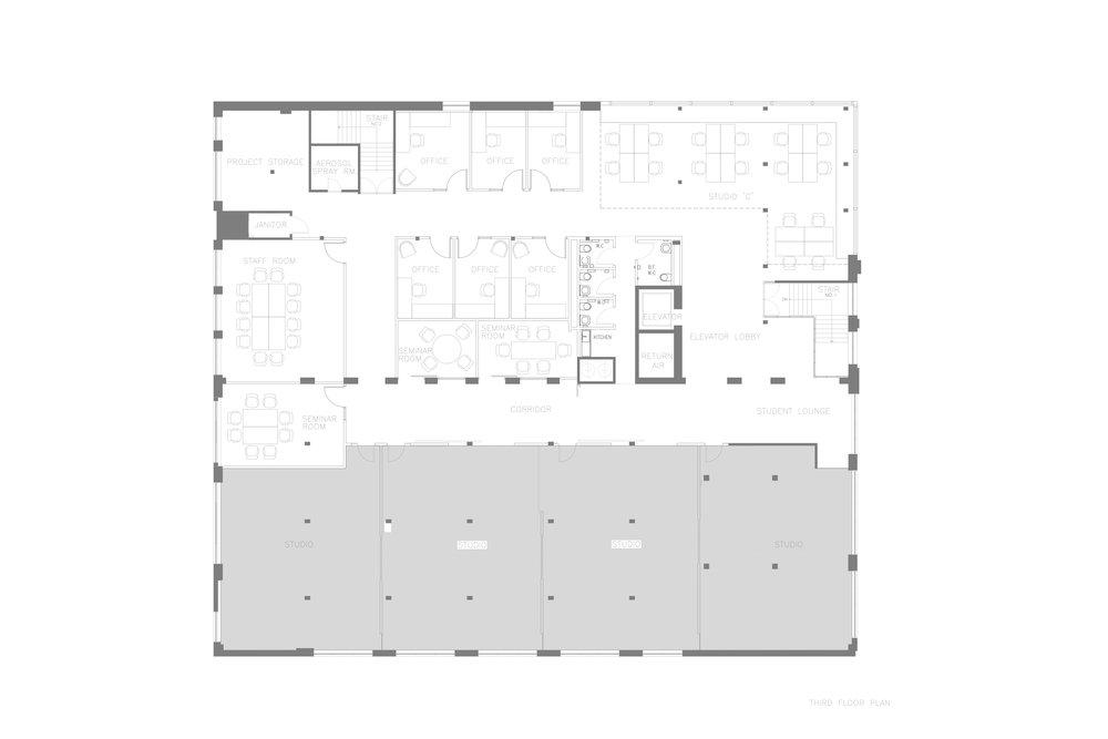 Ryerson's School of Interior Design   Third Floor Plan