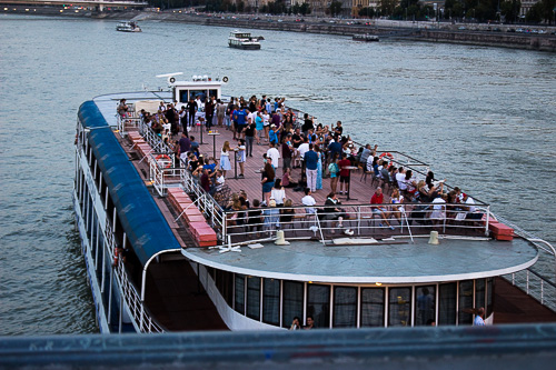 Dinner cruises are a common site on the Danube, but not commuters.