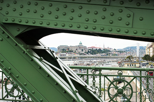 view of buda castle from the szabadsag hid liberty bridge