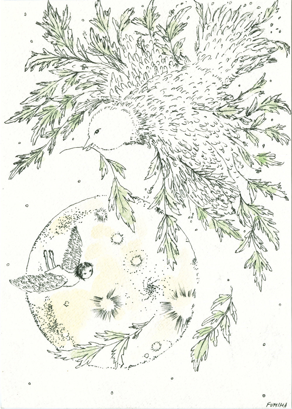 …What mugwort say...   Fly low and high  deep and wide  big and away.  Fly with no fear.  Trust every single feathers you own.  If you fall,  know that that's where you must explore.  Collect more feathers and fly again.  Fly Free to the unknown.