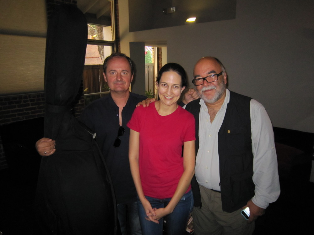 Kait with Peter Erskine and Darek Oles.