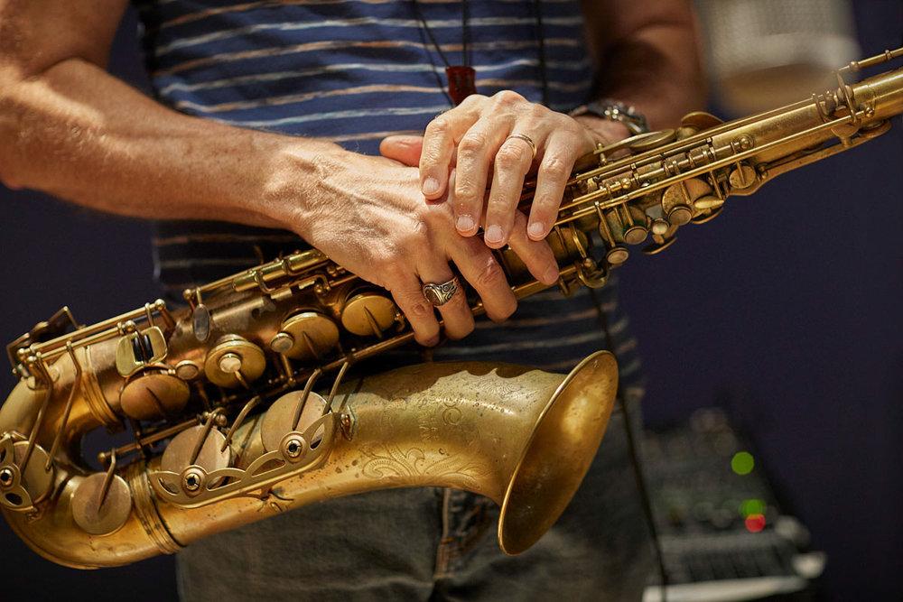 Bob Mintzer's tenor sax