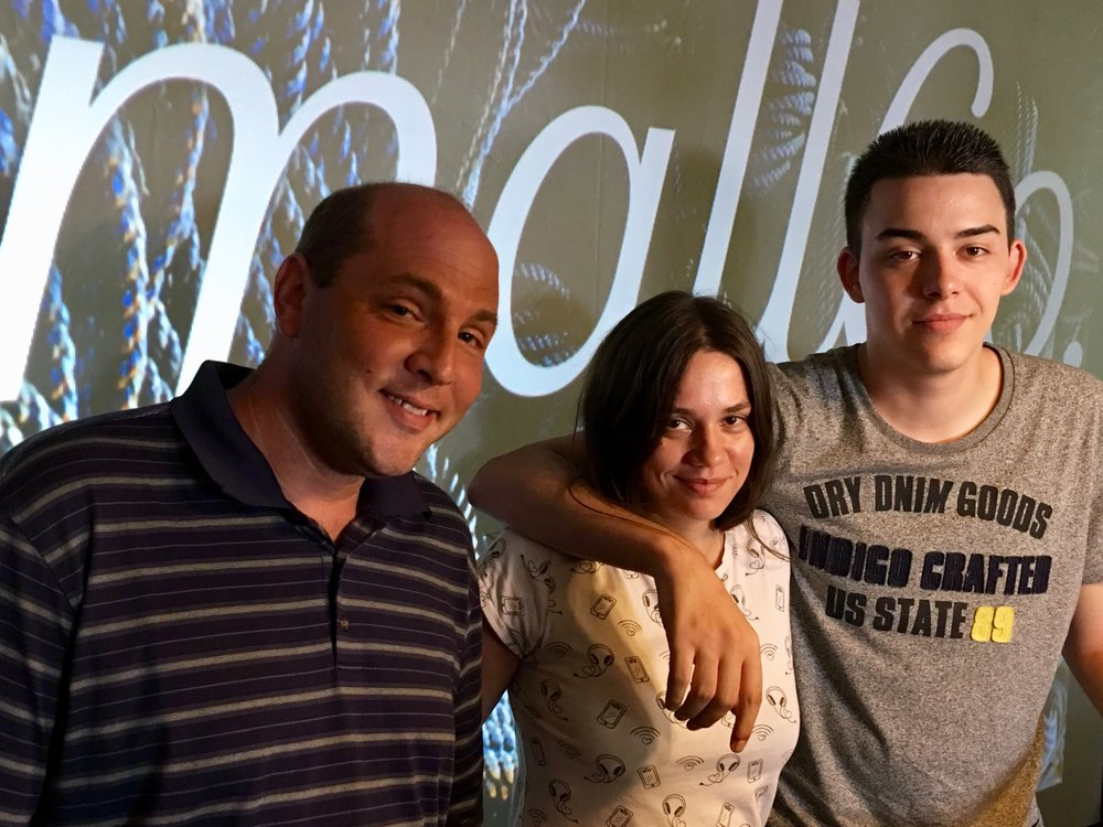DAVE  the  DATA WRANGLER , with  ANJA  &  JAKOV