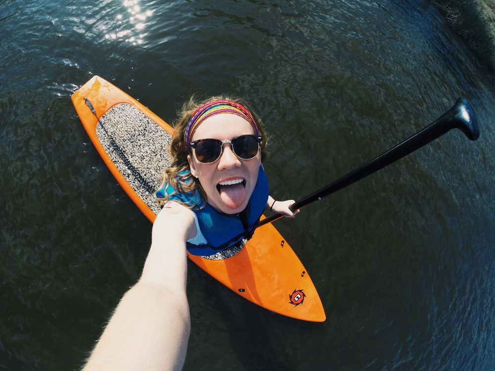 We had a Theta sisterhood event at Boomer Lake and we got to paddle board and kayak!!!!!
