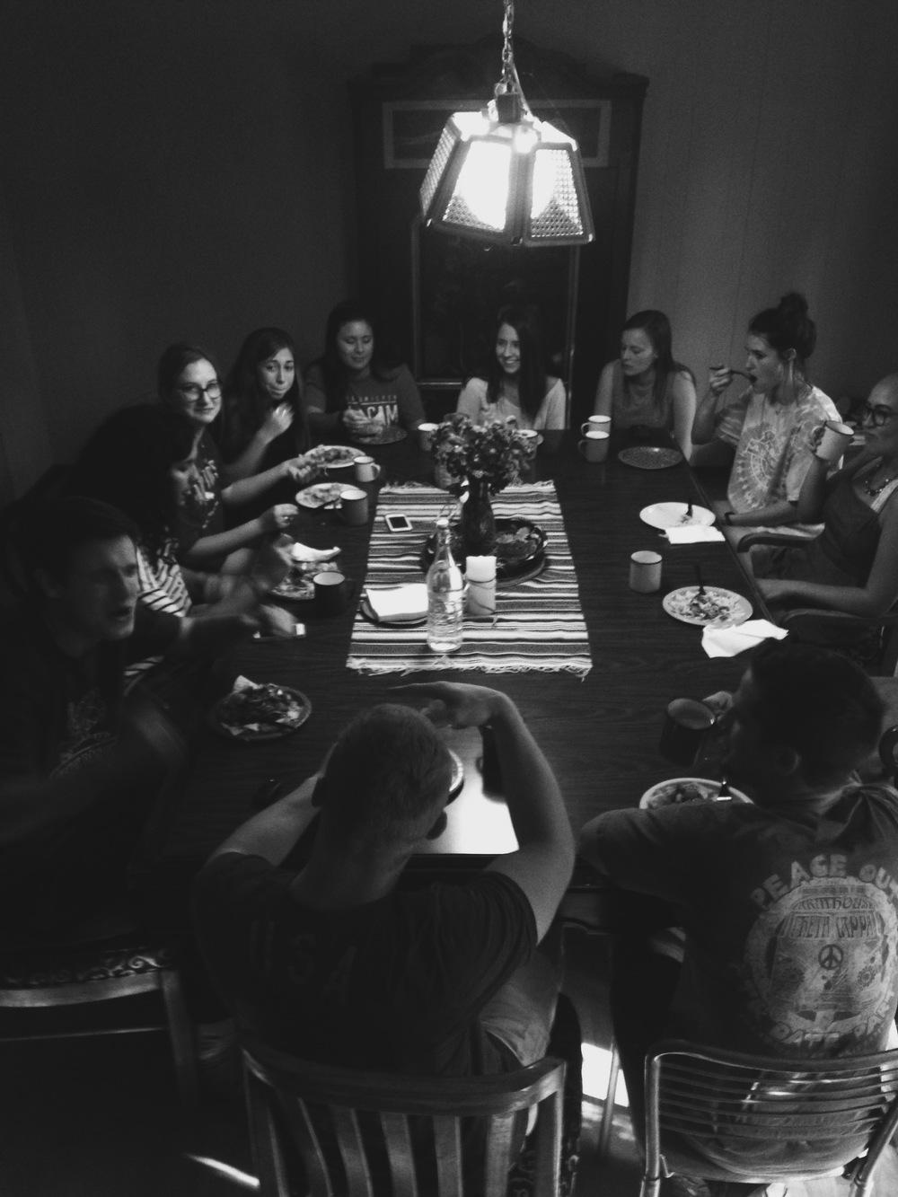 Family dinner before school ends :')