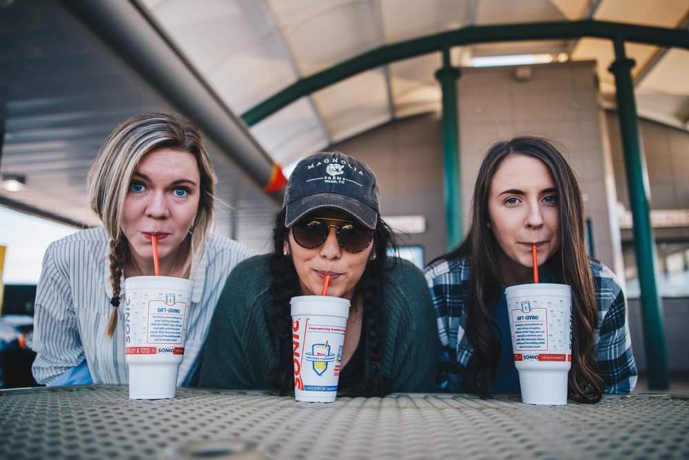 We went to Sonic a lot but this was one of the only times we documented it