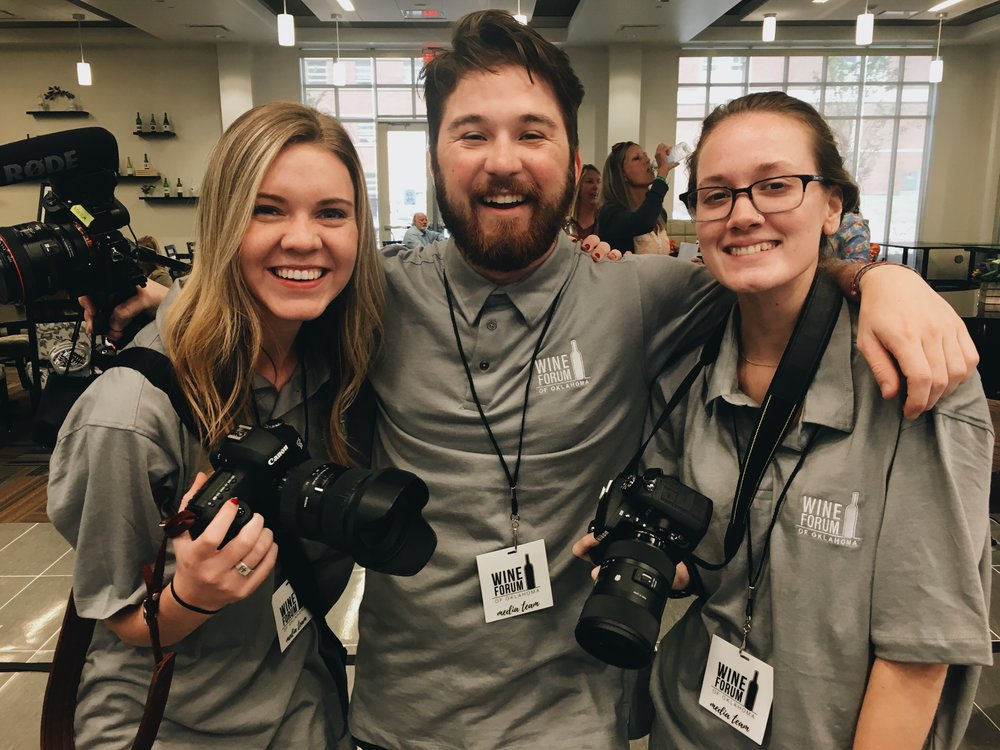Ross, Maddy and I shot Wine Forum of Oklahoma this year!!