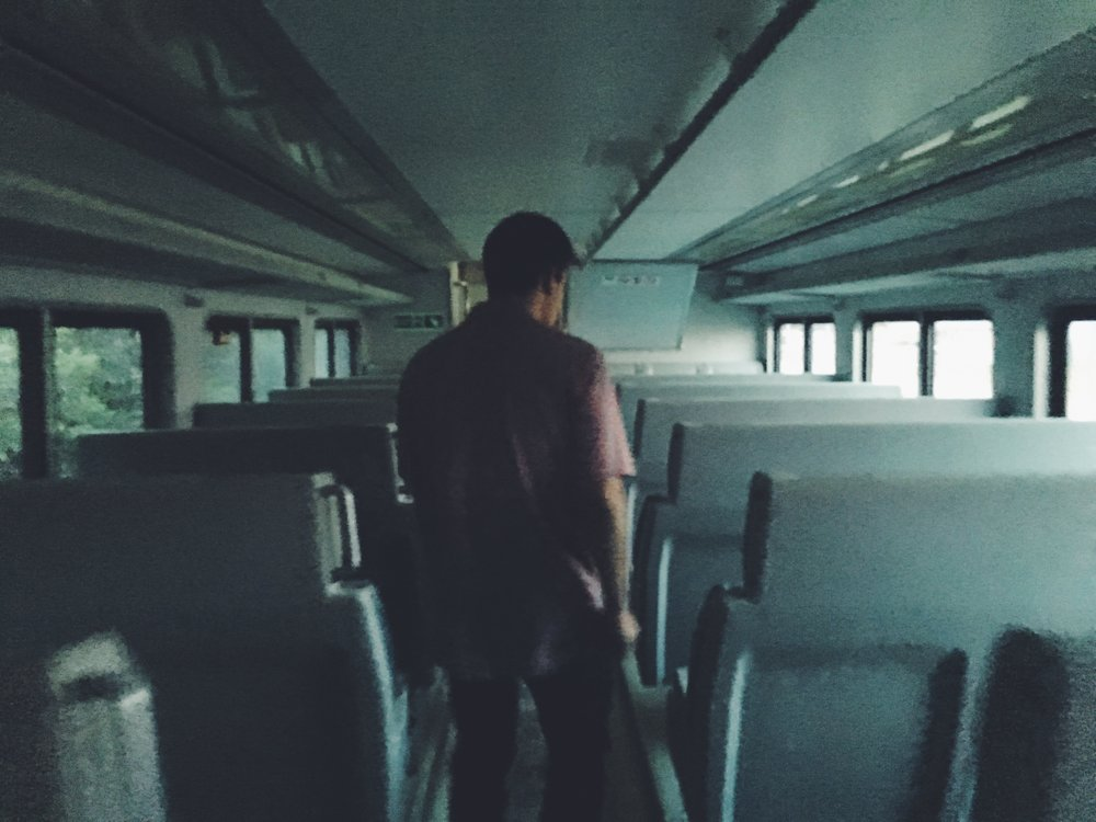 Me and this guy explored an abandoned train