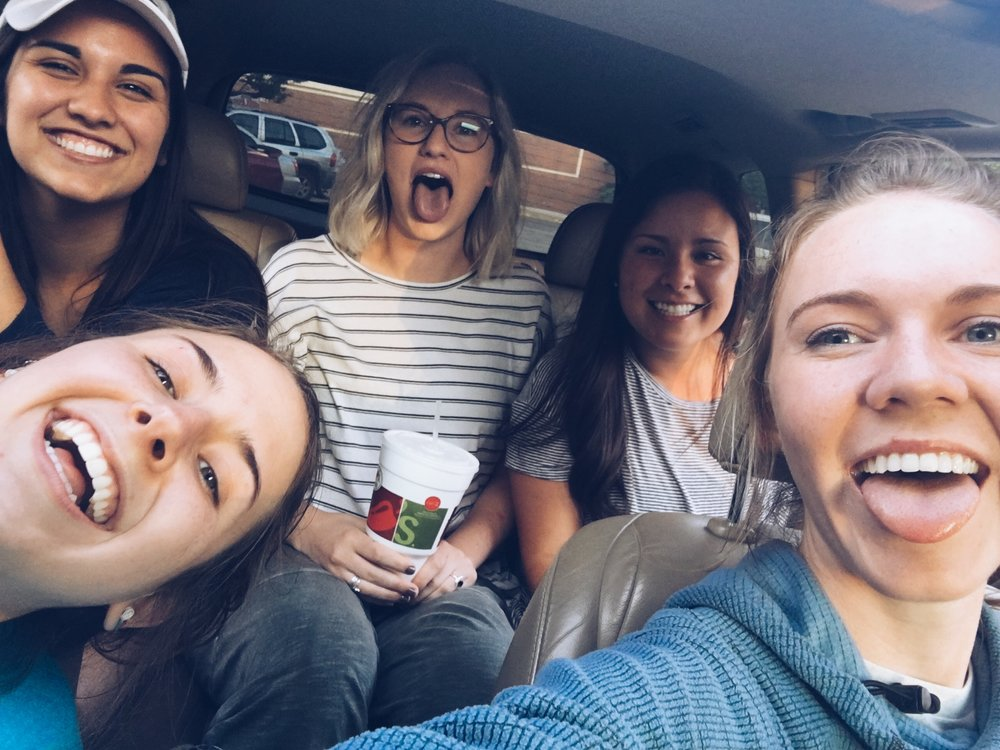 We spent one of our last evenings together eating at Chili's (where else) and driving around singing to our favorite songs