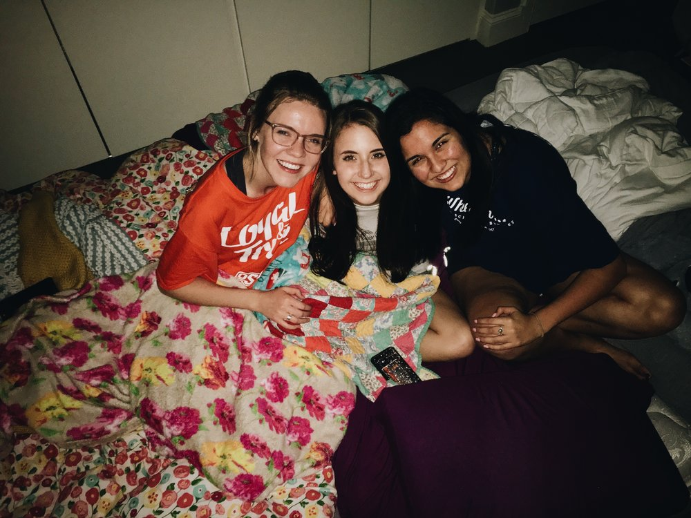 Our last night in Theta we made a mega bed on the floor