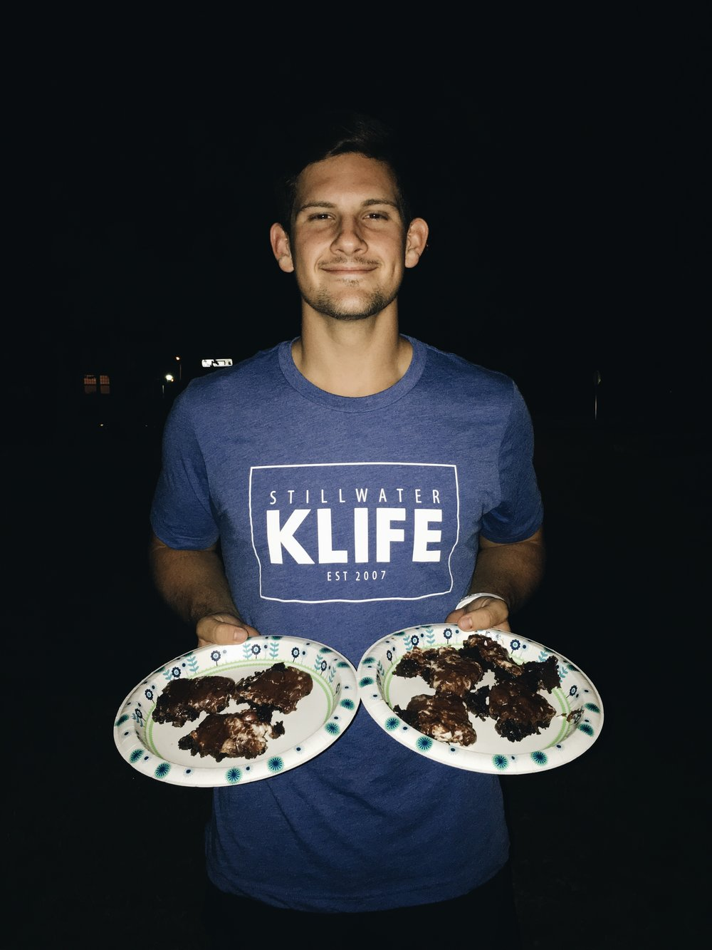 Cooper and I made Mississippi mud pies (brownies with marshmallows and chocolate icing) one evening and brought the around to our pals in Stilly.