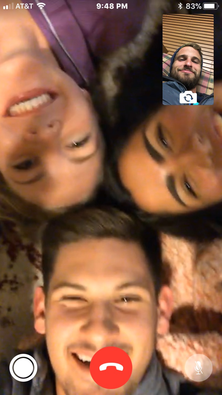 One evening we all laid on the floor and FaceTimed Ryan because we miss him.