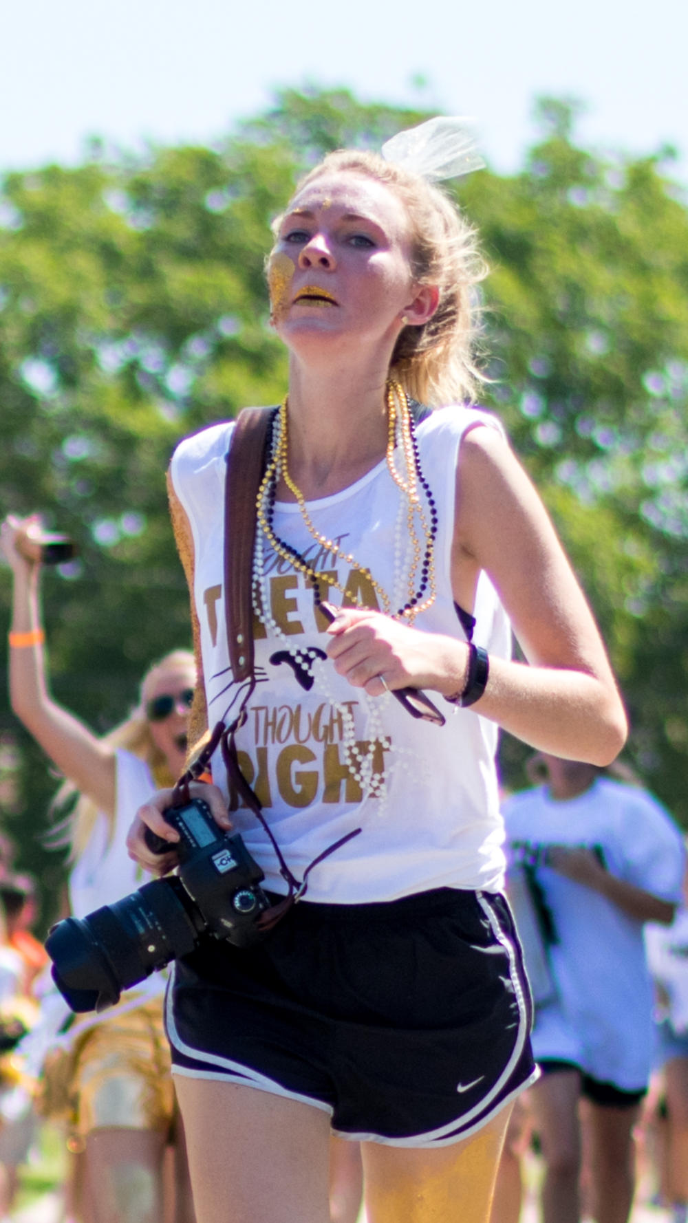 My embarrassing photo from bid day (with my camera in hand, of course).