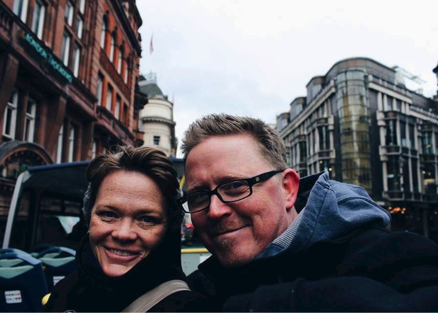 Shannon Towler and her husband, Eric, travelled to London and Dublin with their children this winter with the help of Shannon's earnings as a CareDriver with HopSkipDrive. (Photo courtesy of Mackenzie Towler)