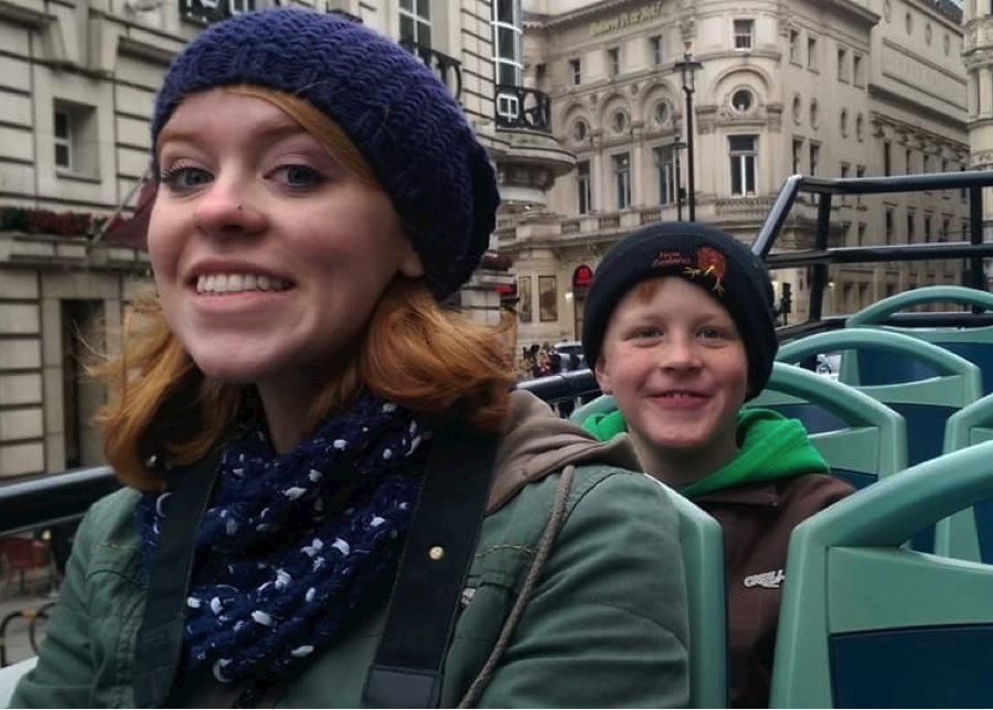 Mackenzie and Nate Towler enjoyed the sights in London and Dublin this winter thanks to some extra money their mom, Shannon, earned as a CareDriver with HopSkipDrive. (Photo courtesy of Shannon Towler)