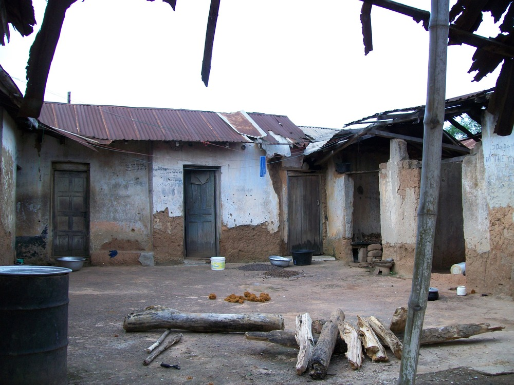 An abandoned home in Ajumako-Techiman, Central Region, Ghana, 2010. Photo by M. Sophia Newman