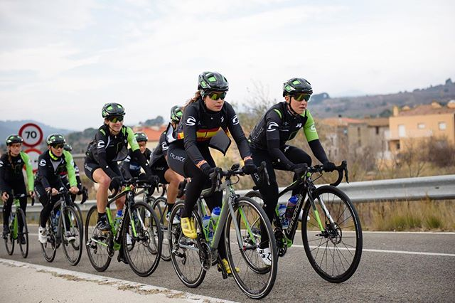 The green dream team on their @cannondaleroad bikes equipped with only the best from @speedplaypedals @fsa_road @vittoriatires @vision_tech_usa @lezyneusa! #bringthegreen