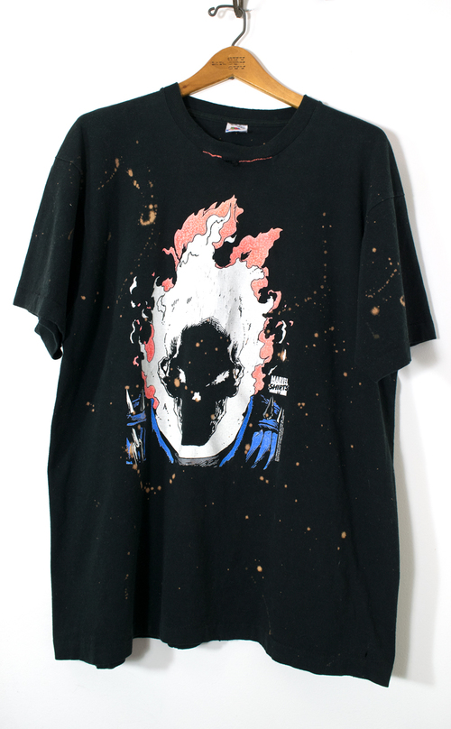 Vintage Marvel Comics Ghost Rider Glow In The Dark T Shirt Rare Collectible And Eclectic Finds