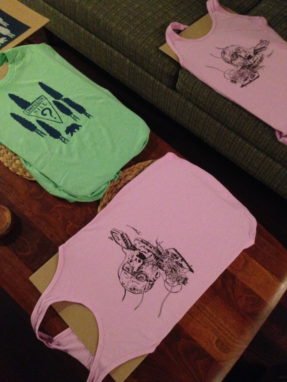 Say hello to Confusion Hill & Android Head - These are the names of our new Z-Grade shirt creations.