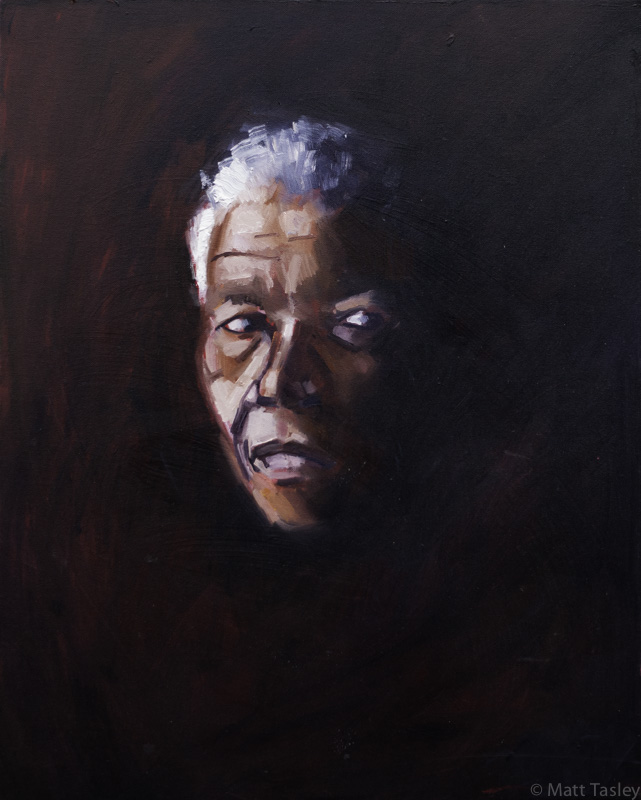 """Nelson Mandela"", Oil on canvas, 24"" x 18"""